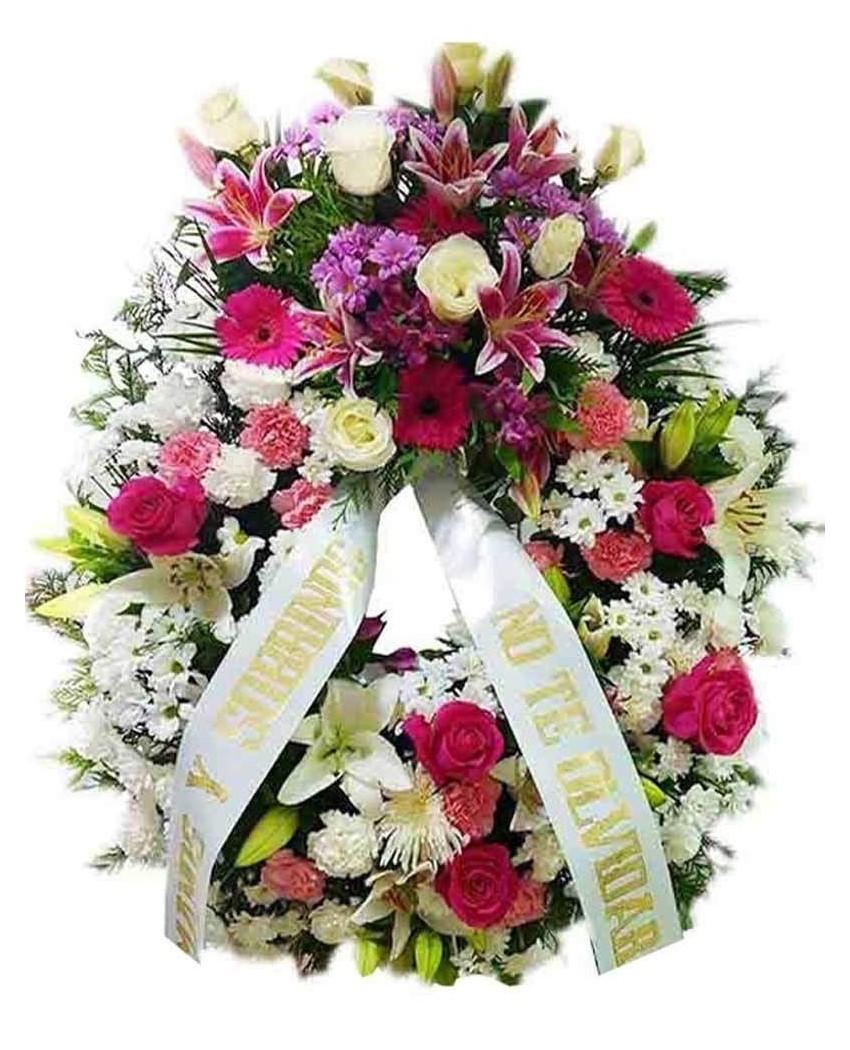 Corona De Flores Funeraria Tn022 Pequeño