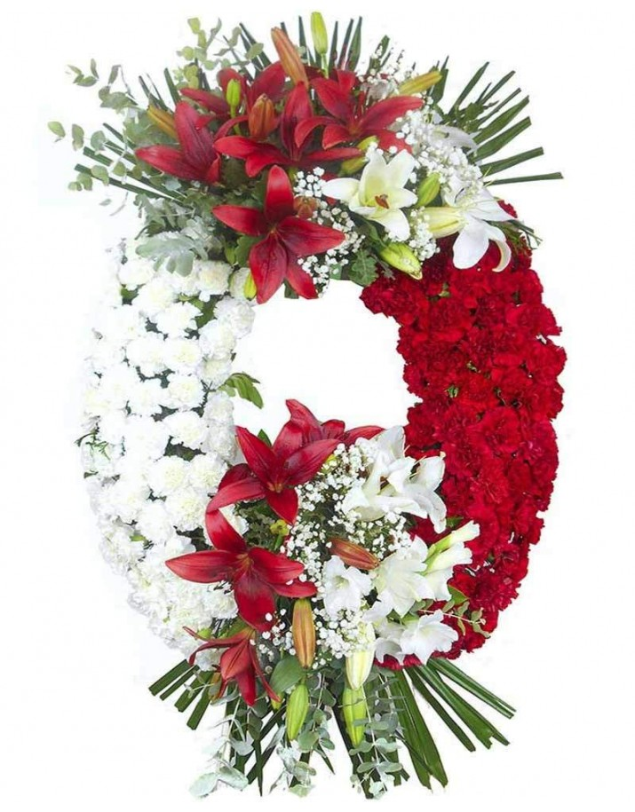 Corona de flores para funerales Madrid