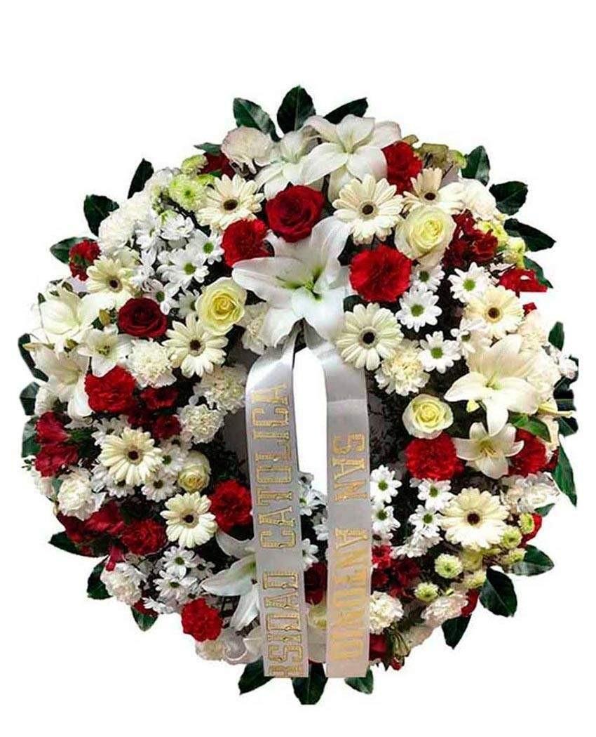 Precio coronas de flores. Floristería tanatorio m30