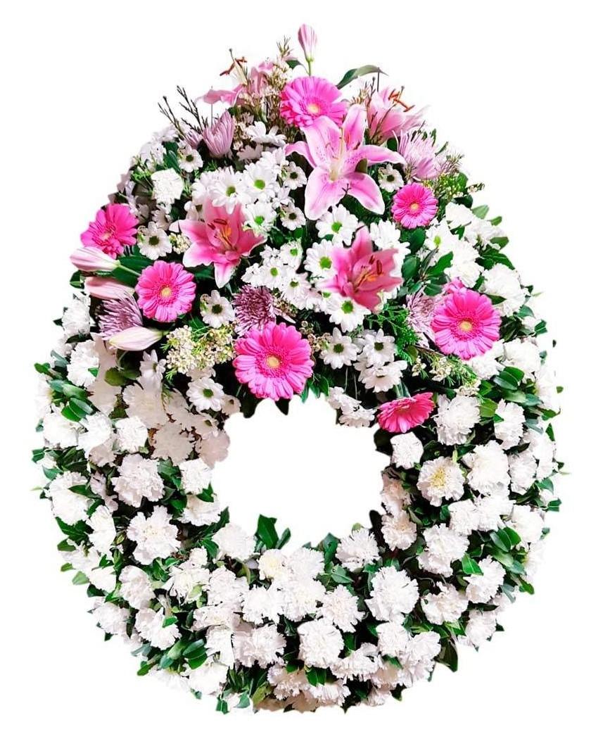 Corona De Flores Fúnebre Tn189 Pequeño