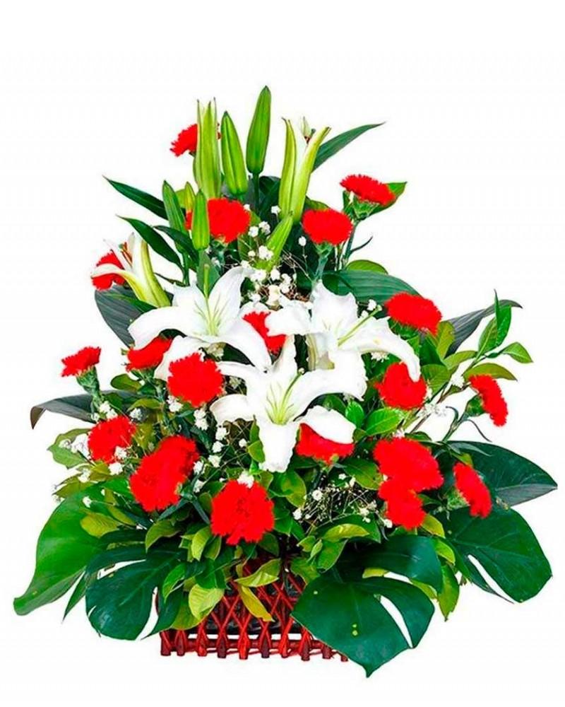 Centro de flores para difunto tanatorio m30
