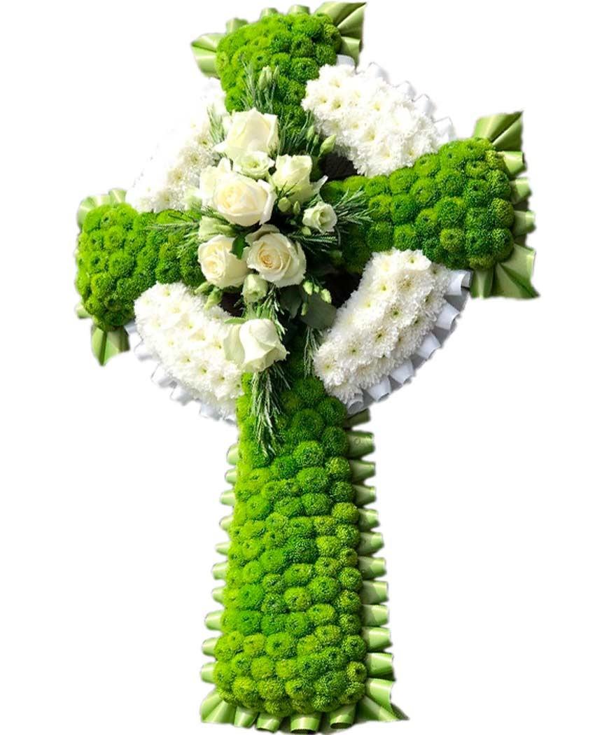 Cruz de flores para muertos en madrid.
