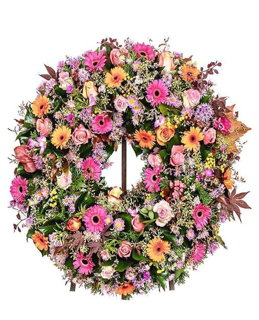 Coronas de flores fúnebre. Madrid.