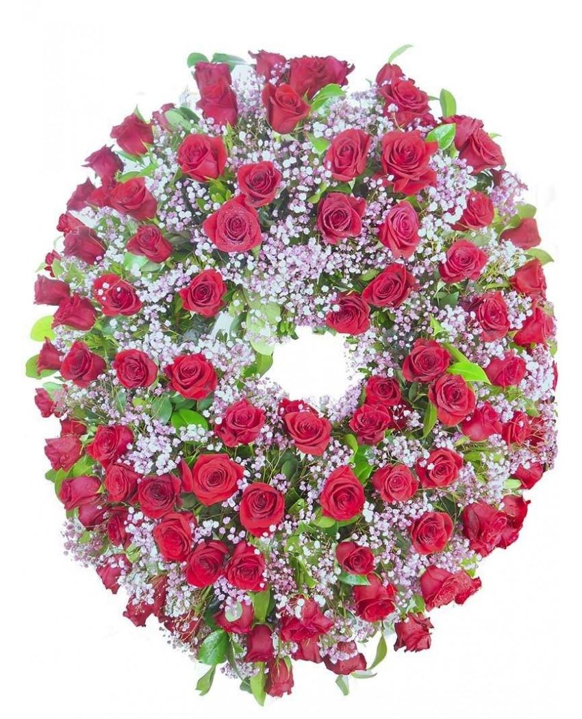 Corona de rosas y paniculata